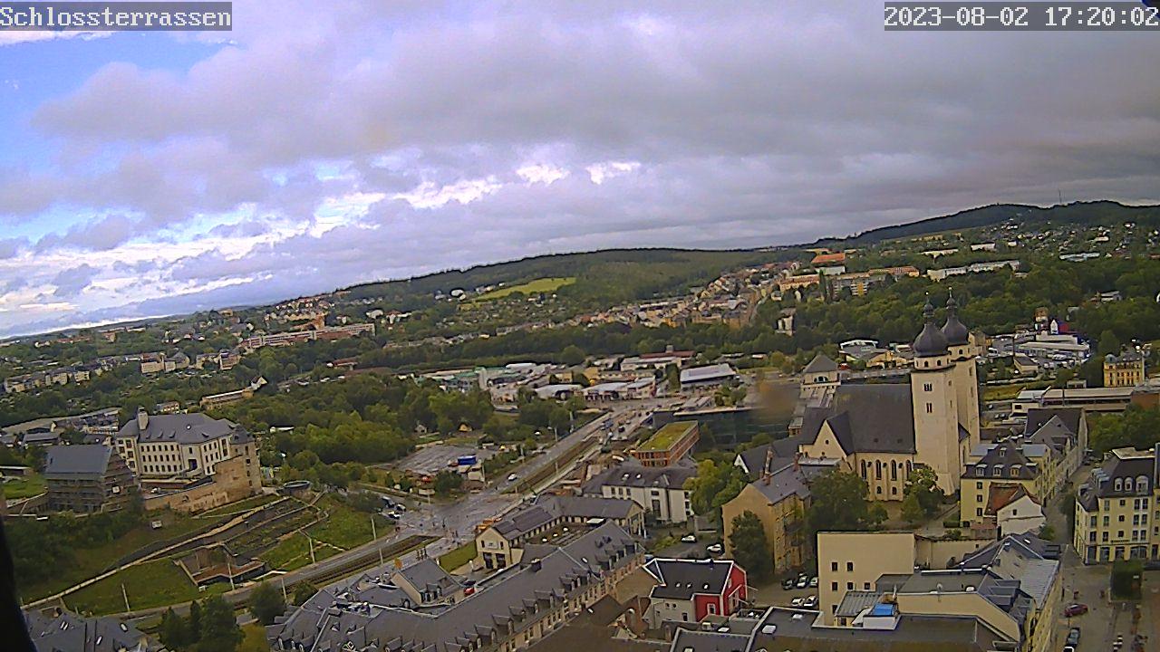 Bild vergrößern: Webcam mit Blick in Richtung Schlossterrassen und Berufsakademie.
